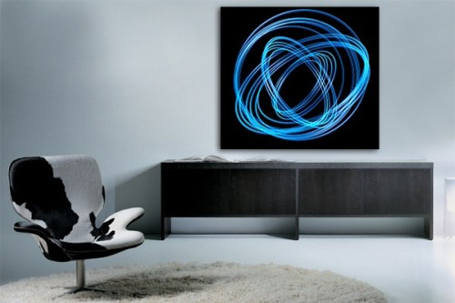 Tableau design Photon bleu