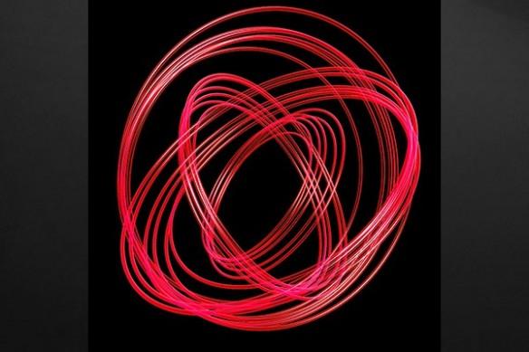 toile design Photon rouge