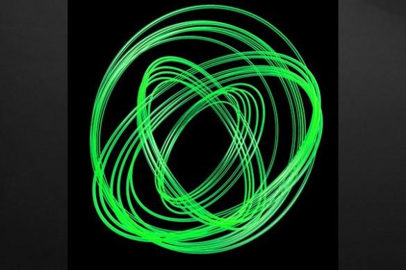toile abstraite Photon vert