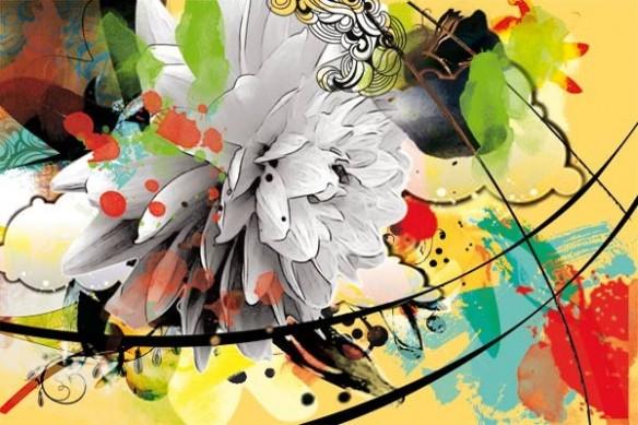 Papier peint zen jaune