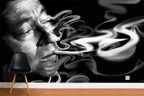 Papier peint décoration Serge Gainsbourg