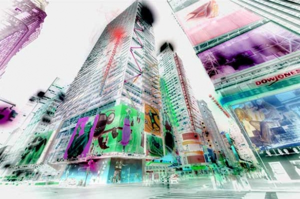 Papier Peint New York Négatif