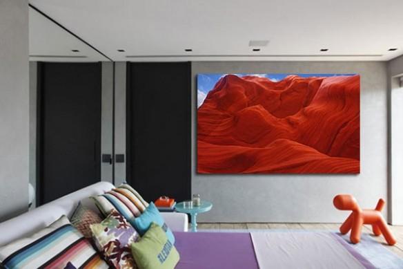 Tableau contemporain Terre Rouge