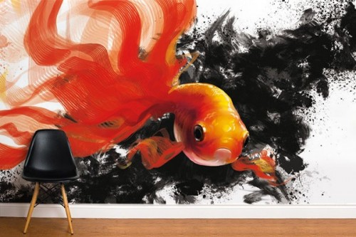 Papier peint mur GoldFish par D. Oztel