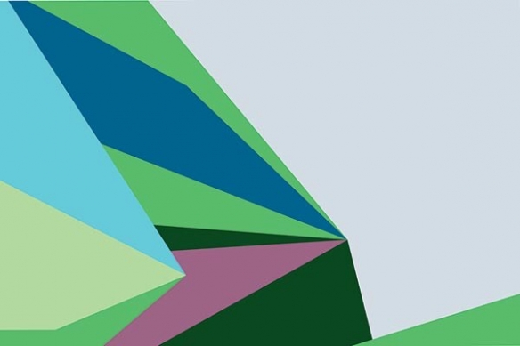 Tableau toile abstrait Tintamarre vert