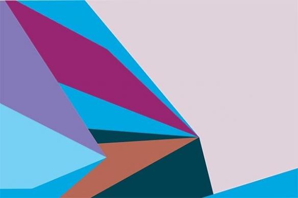 Tableau poster abstrait Tintamarre bleu