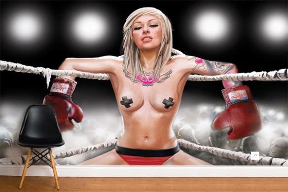 Papier Peint Mural Tania la Boxeuse