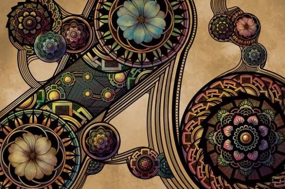 design mural déco Rosaces