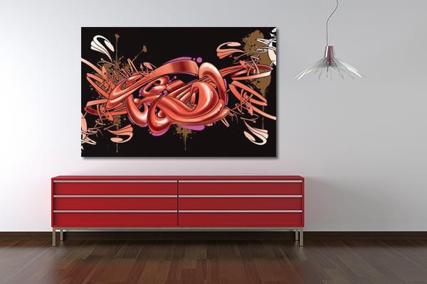 Tableau abstrait graff izoa - Tableau pour decoration salon ...