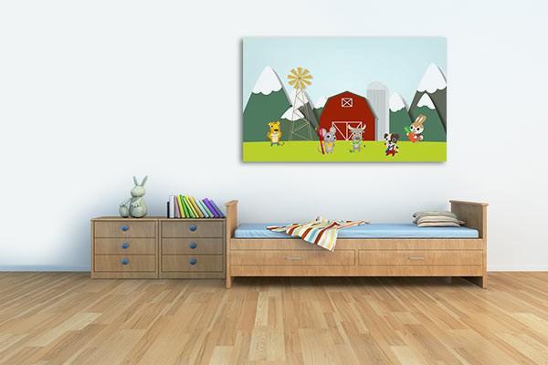 Tableau pour enfant la ferme izoa for Chambre kawaii