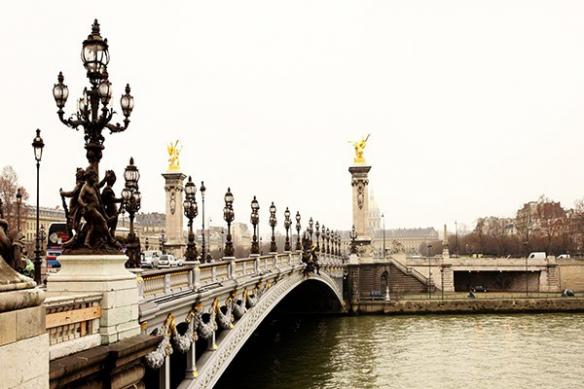 Papier peint déco Pont de Paris