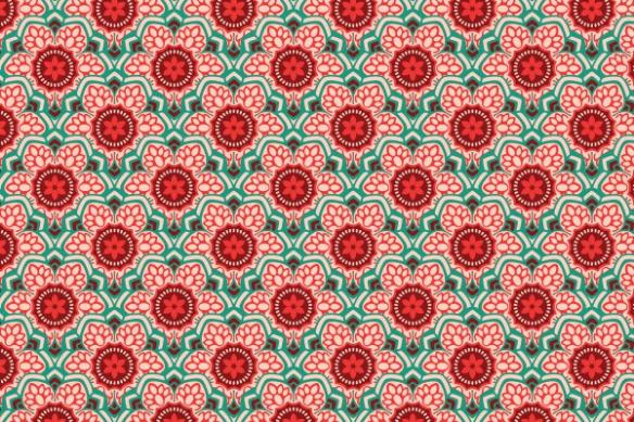 Hanoï fleur pattern poster mural