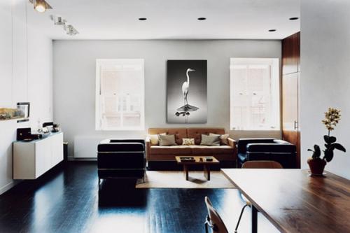 tableau noir et blanc - Salon Noir Blanc Violet