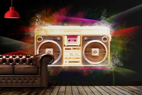 Papier Peint graphique Radio K7