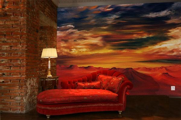 papier peint d co far west izoa. Black Bedroom Furniture Sets. Home Design Ideas