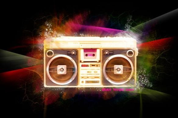 ghetto blaster radio K7 poster xxl