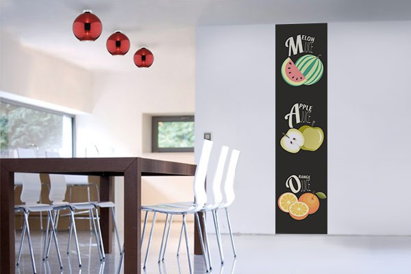papier peint vintage salade de fruits izoa. Black Bedroom Furniture Sets. Home Design Ideas