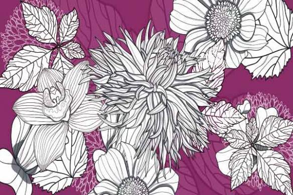 déco design toile fleur Interlude rose
