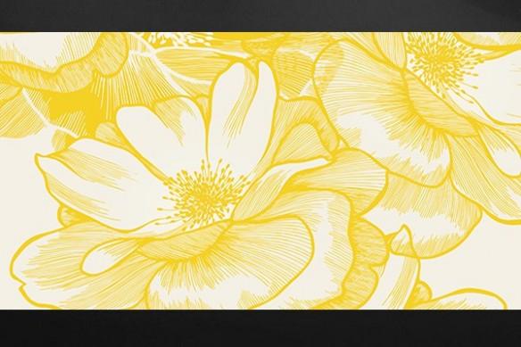 Tableau fleur romantique Ysatis