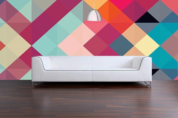 papier peint original sym trie izoa. Black Bedroom Furniture Sets. Home Design Ideas