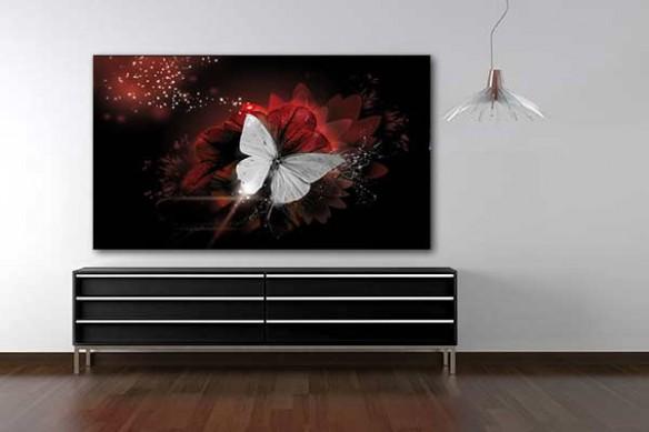 Tableau déco papillon de lumière