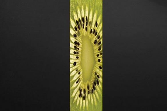 Papier peint lé unique kiwi vert