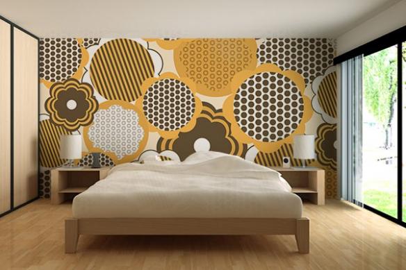 Papier peint décoration tournesol