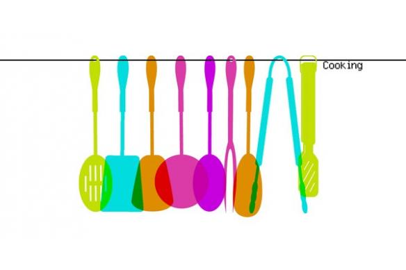 Tableau déco design pour cuisine Spatules