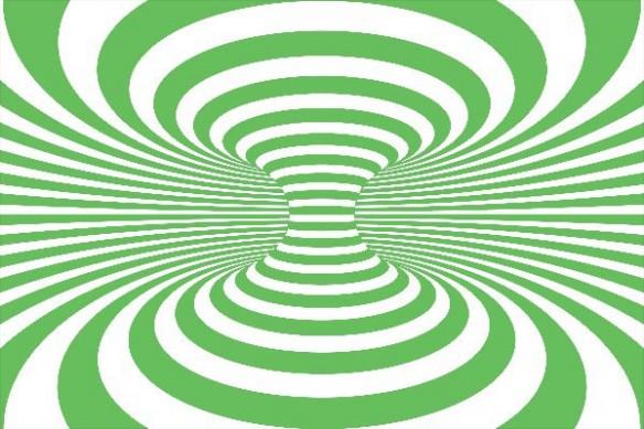 acheter tableau distorsion vert