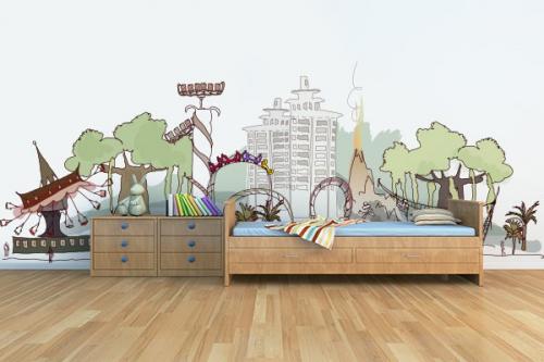 Papier Peint Enfant Parc d'attraction