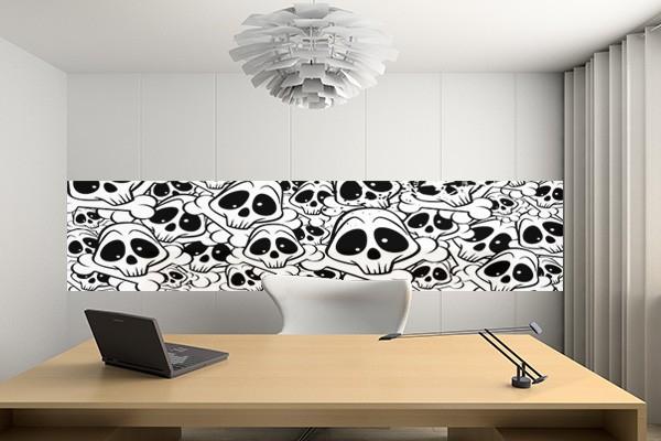 papier peint l unique funny skull izoa. Black Bedroom Furniture Sets. Home Design Ideas