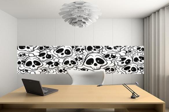 Papier peint lé unique Funny skull