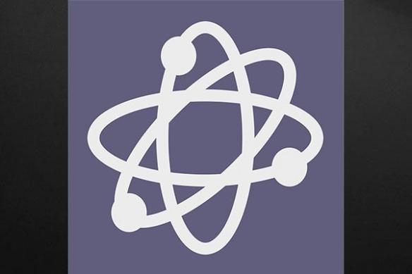 Tableau atome violet