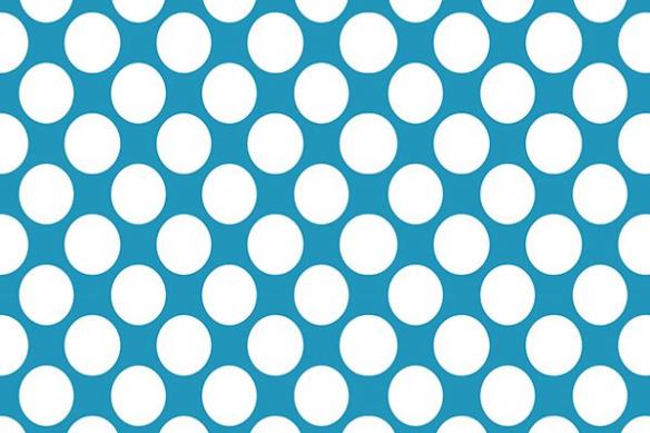 Papier peint abstrait pois blancs bleu ciel