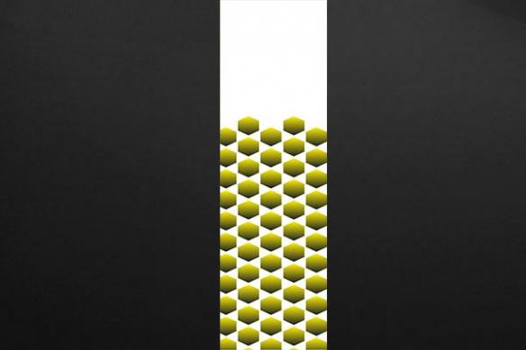 deco mur krone jaune