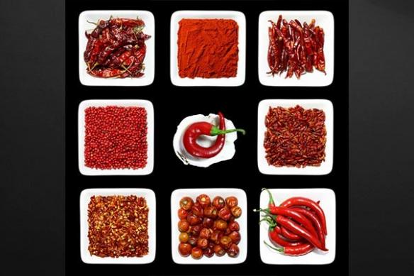Tableau carré cuisine design pigments