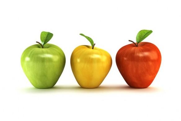 Tableau Déco moderne original trois pommes