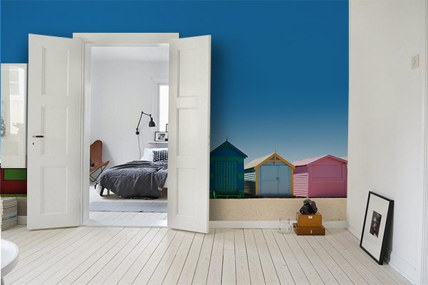 Papier peint chambre cabanons izoa for Papier peint chambre moderne