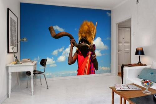 Papier peint déco chant africain