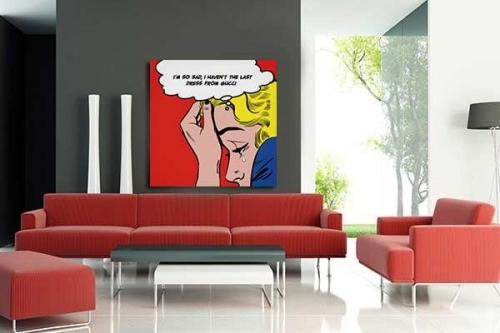 Tableau déco blonde lichtenstein