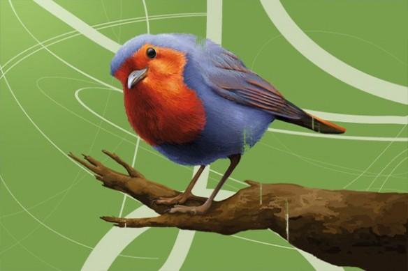 décoration maison mural oiseau