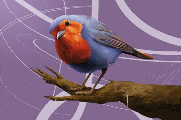 déco intérieur Salomon l'Oiseau violet