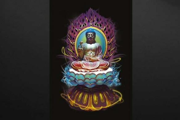 tableau contemporain zen Buddha Style