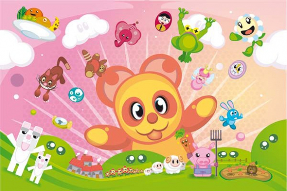 Tableau mural enfant xxl Animalz