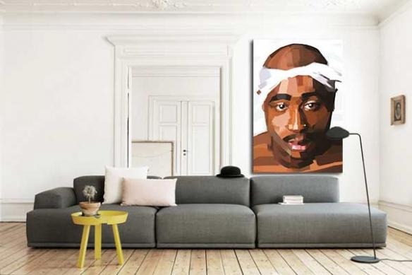 Tableau décoration Tupac