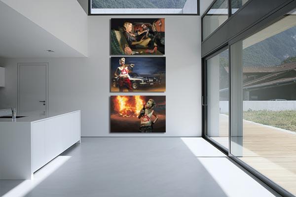 tableau triptyque anarchy izoa. Black Bedroom Furniture Sets. Home Design Ideas
