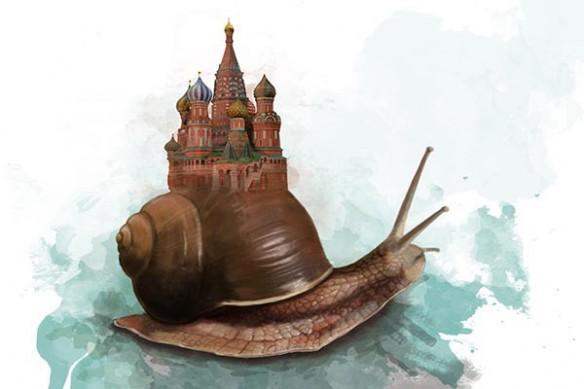 escargot abritant le kremlin de mouscou