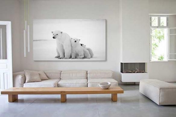 Tableau decoratif ours polaire