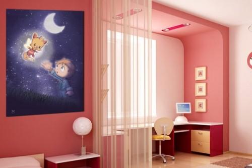 Tableau enfant Douce Nuit par Artsenic