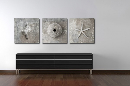 tableau triptyque izoa. Black Bedroom Furniture Sets. Home Design Ideas